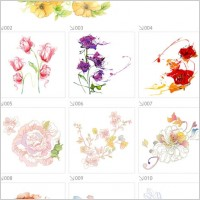 Link toBeautiful flower pattern style 01 vector