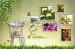 Link toBeautiful flower picture frame psd