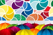 Link toBeautiful flower umbrella vector