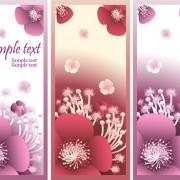 Link toBeautiful flower vertical banner vector set free