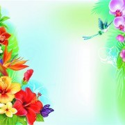 Link toBeautiful flowers and butterflies vector background 02
