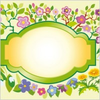 Link toBeautiful flowers and lace 02 vector