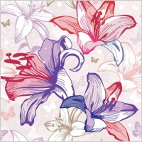 Link toBeautiful flowers and patterns 02 vector