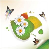 Link toBeautiful flowers background 06 vector