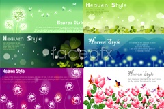 Link toBeautiful flowers background banner vector