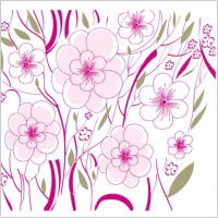 Link toBeautiful flowers background illustration 01 vector