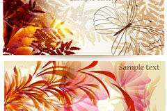 Link toBeautiful flowers butterfly banner vector