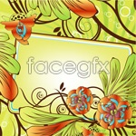 Link toBeautiful flowers decorate boxes vector