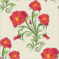 Link toBeautiful flowers illustration background pattern 03 vector