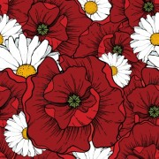 Link toBeautiful flowers seamless pattern art vector 01 free