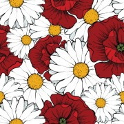 Link toBeautiful flowers seamless pattern art vector 04 free