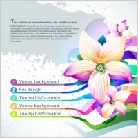 Link toBeautiful flowers shading background 02 vector