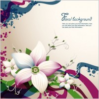 Link toBeautiful flowers shading background 04 vector