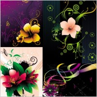 Link toBeautiful flowers vector the trend