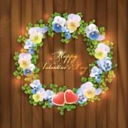 Link toBeautiful garland valentine vector background free