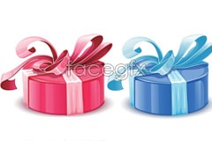 Beautiful gift wrapping vector