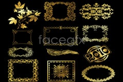 Link toBeautiful gold lace coat of arms-vector