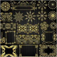 Link toBeautiful gold pattern 01 vector