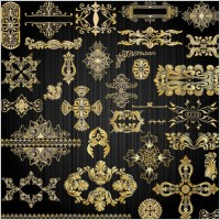 Link toBeautiful gold pattern 02 vector