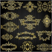 Link toBeautiful gold pattern 03 vector