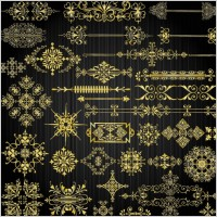 Link toBeautiful gold pattern 04 vector