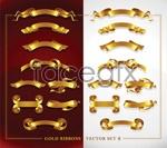 Link toBeautiful gold ribbon vector