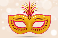 Link toBeautiful golden mask vector