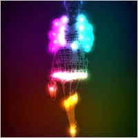 Link toBeautiful gorgeous neon silhouette 02 vector