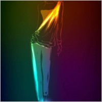 Link toBeautiful gorgeous neon silhouette 03 vector