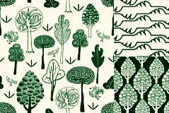 Link toBeautiful green background pattern vector