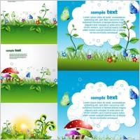 Link toBeautiful green cartoon background vector