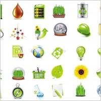 Link toBeautiful green icon vector