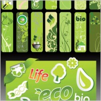 Link toBeautiful green living banner vector series