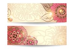 Link toBeautiful halo flower banner vector