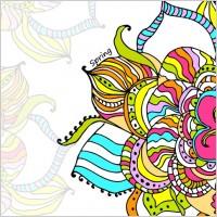 Link toBeautiful handpainted pattern background 03 vector