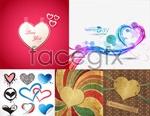 Beautiful heart-shaped cards vector