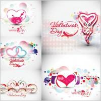 Link toBeautiful heart-shaped trend pattern - vector