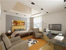 Beautiful home interior 14 psd