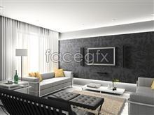 Beautiful home interior 2 psd