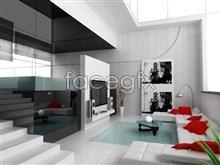Beautiful home interior 8 psd