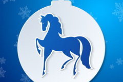 Link toBeautiful horse ball christmas background vector