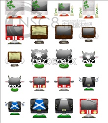 Link toBeautiful imac monitor icons