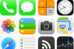 Beautiful ios7 icon vector