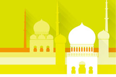 Link toBeautiful islamic mosque vector background