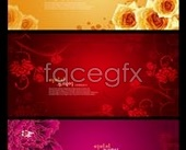 Link toBeautiful korea flower background hierarchy template psd