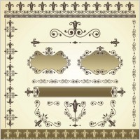 Link toBeautiful lace pattern 03 vector
