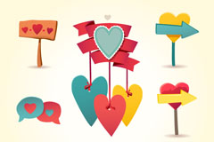 Link toBeautiful love element tag vector