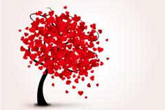 Link toBeautiful loving tree vector