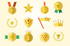 Link toBeautiful medal icon vector