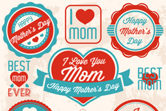 Link toBeautiful mother's day tag vector